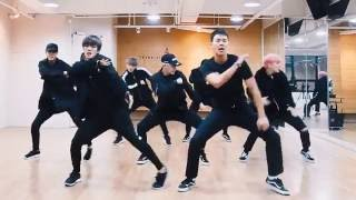 Monsta X 'Fighter' mirrored Dance Practice width=