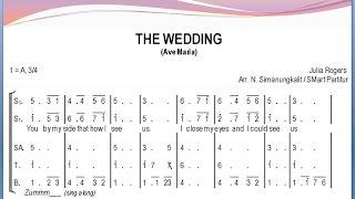 The Wedding (Ave Maria) – Julie Rogers | SATB – Teks Kor Lagu Rohani Pernikahan Not Angka
