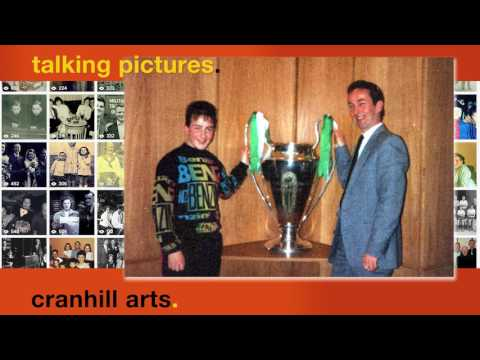 Jim and Darren Ward with  European Cup Parkhead 1991