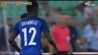 Ousmane Dembélé (debut) vs Italy 02/09/16 HD