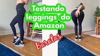 Testando leggings do Amazon a prova de agachamento/ leggings baratas