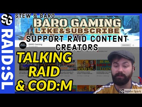 RAID SHADOW LEGENDS | BARO GAMING | RAID & COD MOBILE CHAT! LETS GET SOME SUBS HIS WAY!