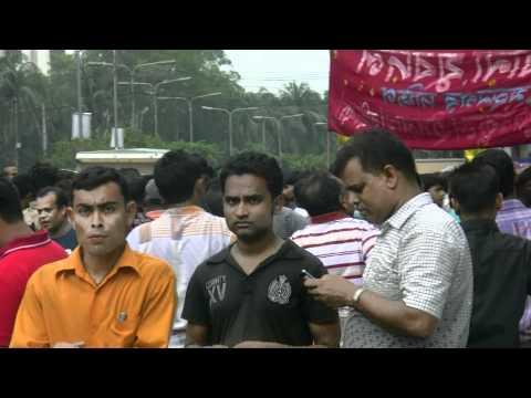 アキーラさんデモ遭遇5!バングラデッシュ・ダッカ!Demo,Dahka,Bangladesh
