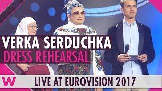 Verka Serduchka opens the phone lines - grand final dress rehearsal @ Eurovision 2017