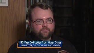 193 year old letter from Hugh Glass KSFY 2/28/16