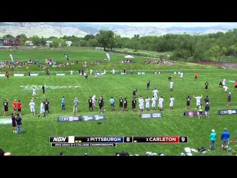Video Thumbnail: 2012 College Championships, Men's Semifinal: Pittsburgh vs. Carleton