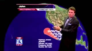 A Very Aroused Weatherman - Penis on Weather Forecast
