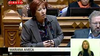 """Mariana Aiveca: """"As pessoas não têm de pagar os erros do Estado"""""""