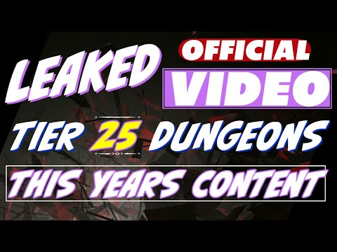 Leaked official video! Tier 25 dungeons What's next with raid new content, pick your skills, etc.