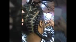 Feed-in Braids for short hair