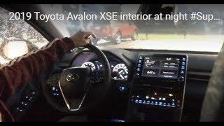 2019 Toyota Avalon XSE interior at night #SuperEdgar10