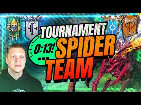 13 SECOND SPIDER TOURNEY TEAM! | RAID Shadow Legends