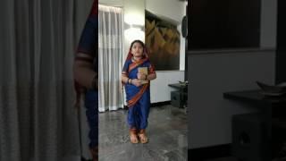 Niya playing savitribai jyotiba fule in school role play competition