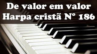 DE VALOR EM VALOR - HARPA CRISTÃ Nº186 (simplificado) #tecladoiniciante