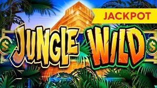 JACKPOT HANDPAY! Jungle Wild Slot - $11.25 Max Bet - AWESOME Bonus, YES!!!