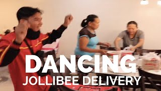Jollibee Delivery Guy Dances at Customers House