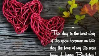 Best happy birthday wish to your lover whatsapp status with Instrumental bg