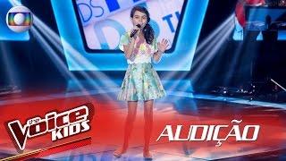 Maria Vittoria canta 'Águas de Março' na Audição – The Voice Kids Brasil | 2ª Temporada