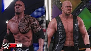 WWE 2K19 - The Rock & Stone Cold Steve Austin Official Entrances!