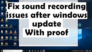 Fix Audio recording issues after windows update | Microphone not working