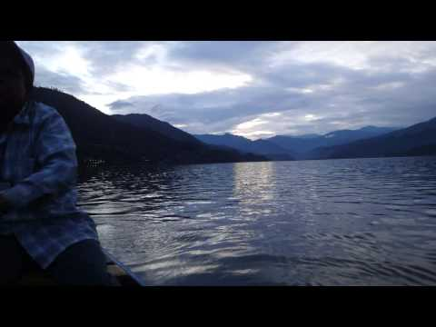Chinese traditional music in Boat trip Pokhara lake, Nepal