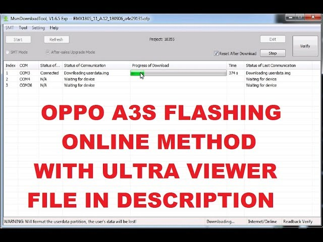 Download thumbnail for Oppo A3s Flashing Online Via Team