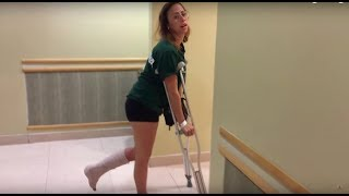 I SPRAINED MY ANKLE! {ABVD CHEMO#6}