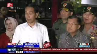 Jokowi dan JK Meninjau Lokasi Ledakan di Kampung Melayu