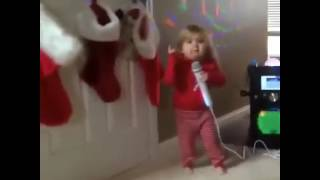 funny video little rockstar girl