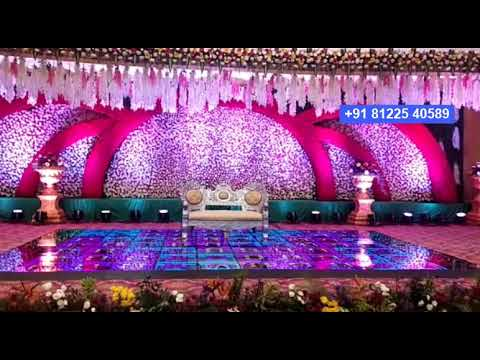 #LED 3D Glass #Floor Digital Wedding Marriage Reception Stage Decoration #Chennai +91 81225 40589