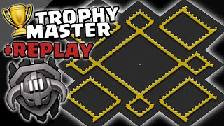 "Clash of Clans | Town Hall 9 Master League Base +REPLAY | ""The Trophy Master"" 