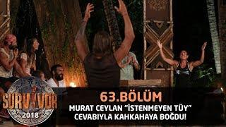 Murat cevabıyla kahkahaya boğdu! | 63. Bölüm | Survivor 2018