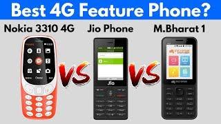 Nokia 3310 4G vs Jio Phone vs Micromax Bharat 1   Comparison   My Choice width=