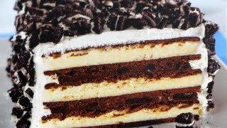 Pastel de OREO con nieve/helado! (SIN HORNO)