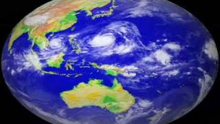 Super Typhoon Tip 1979 With Satelite Video