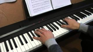 Justin Timberlake - Cry Me a River piano cover (intro)
