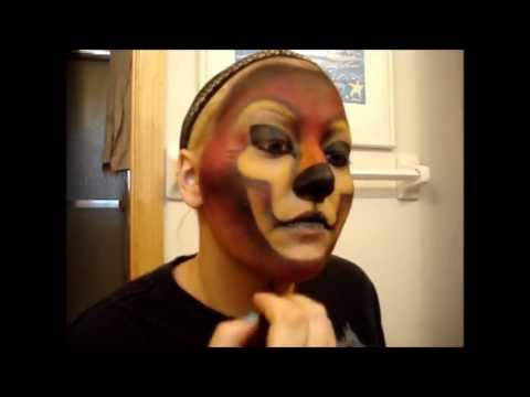 Red Wolf Makeup