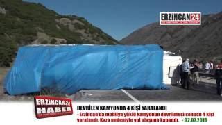 Devrilen Kamyon Erzincan-Erzurum Karayolunu Ulaşıma Kapattı