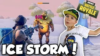 ICE STORM DUOS in FORTNITE BATTLE ROYALE (DAD AND SON)