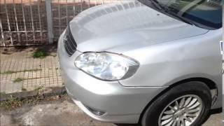 Corolla andando sem carter tratado com alfa-x nano condicionador de metais 1° video