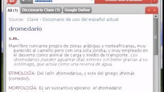Definición de dromedario