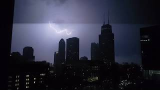 Haunting Storm Sound - Hour Long Rain and Storm in Chicago