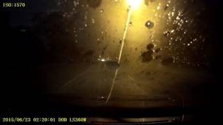 Driving in a wicked storm at night - Clip 2