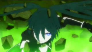 Black rock shooter Angel with a shotgun amv