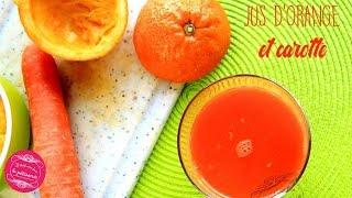 Jus d'orange et de carotte pour faire le plein de vitamines !!
