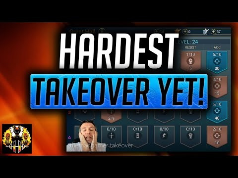 RAID: Shadow Legends | HARDEST TAKEOVER YET!  UNM - THIS GEAR & THIS GREAT HALL?? ARE YOU SERIOUS?