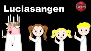 Santa Lucia (Luciasangen) m/animasjon - Norske barnesanger | Julesanger