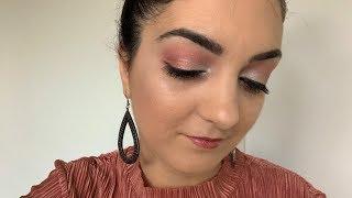 Maquillage des fêtes/Tuto Makeup Rose et Argent