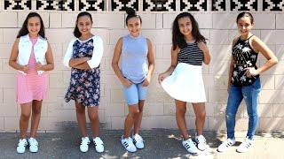 Simple & Trendy School Outfit Ideas for Teens ft. My Niece || Lucykiins