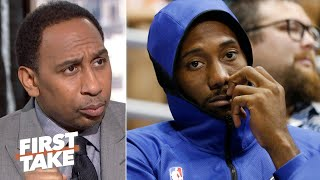 Stephen A. reacts to Kawhi's Uncle Dennis' alleged free agency requests | First Take